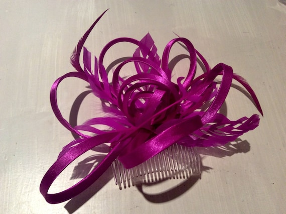 82c88ca848379 Magenta pink deep pink purple Fascinator Fascinators