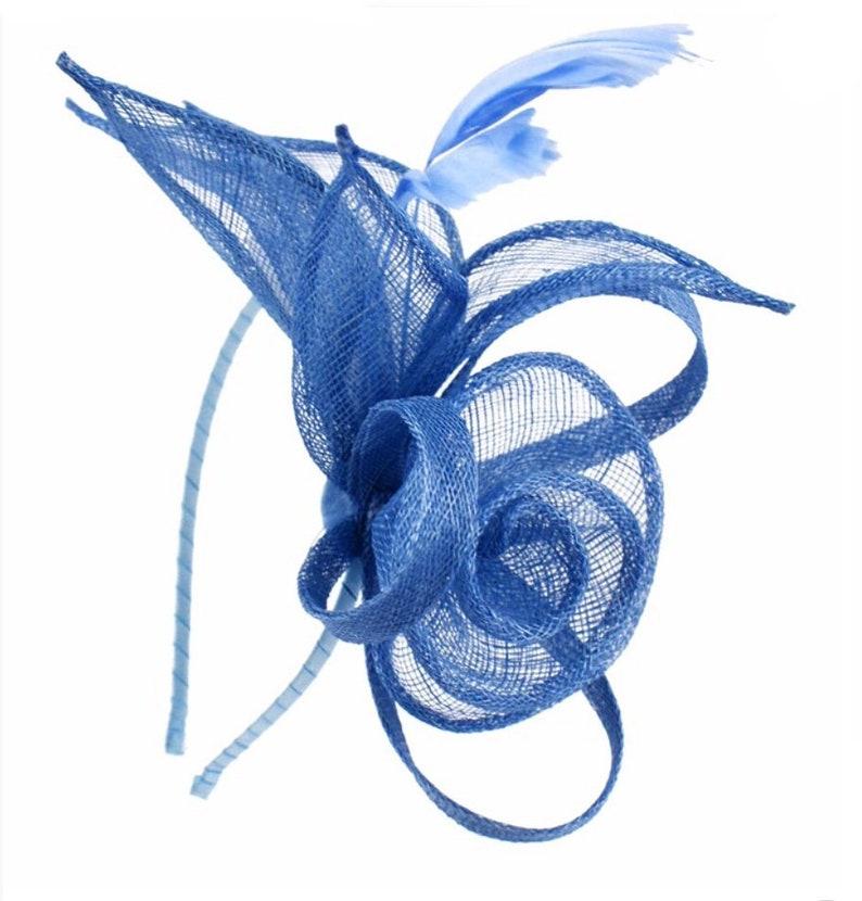 5bc40f10d36c0 Cornflower blue blue light blue Fascinator hat