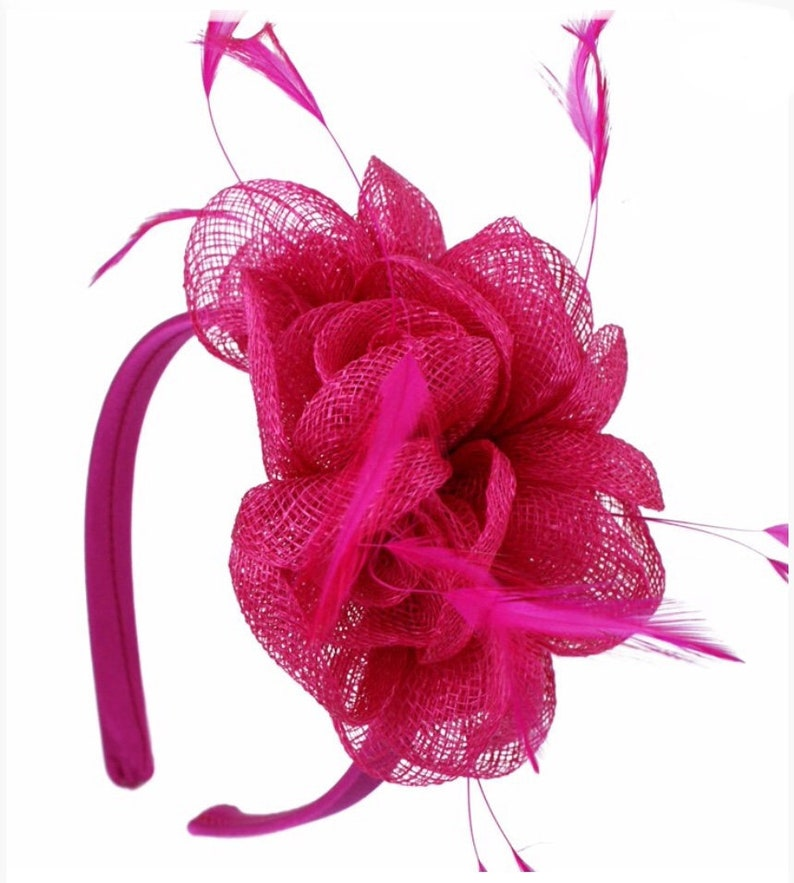 9042d413b84be Pink hot pink bright pink Fascinator hat Fascinator hat