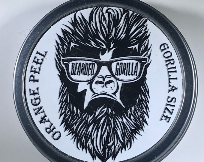 Orange Peel Scented All Natural Moisturizer Beard Balm, Man Gift, Bearded Man Gift, Father's Day Gift, Mens Beard Products-GORILLA SIZE