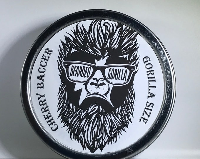 Cherry Baccer Scented All Natural Moisturizer Beard Balm, Man Gift, Bearded Man Gift, Father's Day Gift, Mens Beard Products-GORILLA SIZE