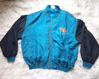 Club Kid Looney Toons Varisty Jacket, 90s Club Kid, 90s Grunge, Oversized, Nylon Jacket, Windbreaker, 90s jacket
