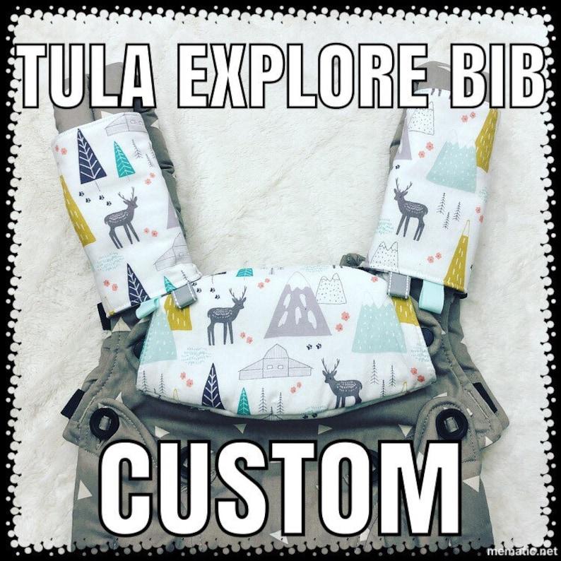 TULA EXPLORE BIB - Custom - Topper - Tula Bib - Protective Cover - Drool  Bib - Headrest Cover -