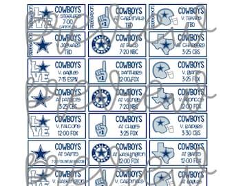 Dallas Cowboy Schedule 2019 Printable