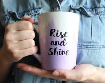 Rise and Shine Hand-painted Mug