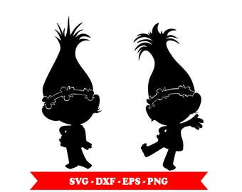 Poppy SVG Trolls Svg Clip Art In Digital Format EPS DXF PNG For Cameo Silhouette Cricut Space Vinyl Embroidery And More