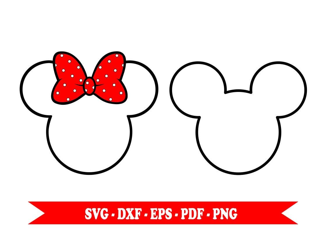 Micky Maus Minnie Maus Svg Svg Clip Art Gliederung im | Etsy