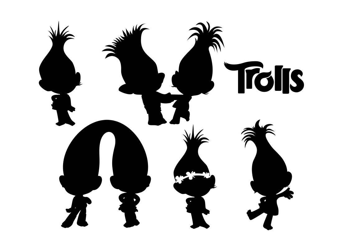 Templates of Trolls svg download in digital format svg EPS | Etsy