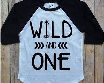 Wild One Birthday Boy Year Old Outfit And First Shirt Boys