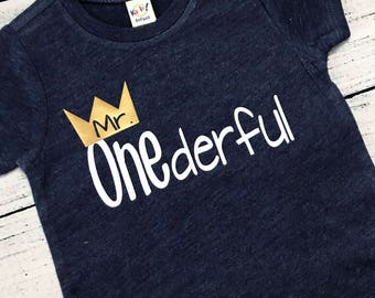 Mr Onederful First Birthday Shirt Boys One Year Old Boy