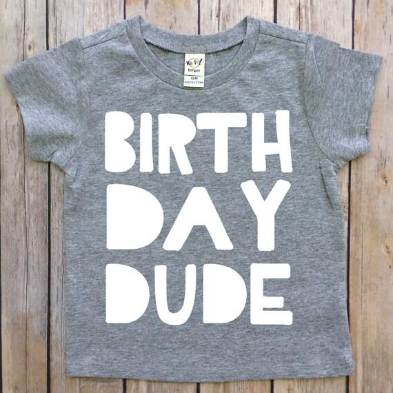Boys Birthday Shirt 4th Custom Made Dude