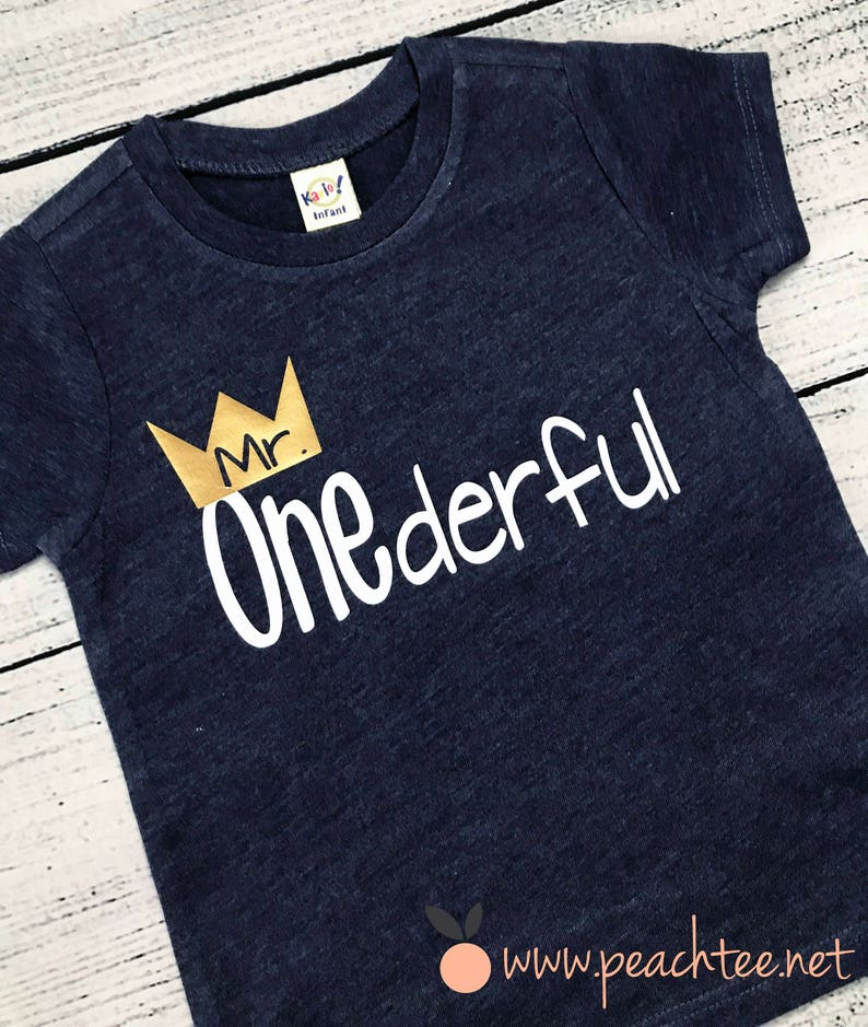 Mr Onederful First Birthday Shirt Boys