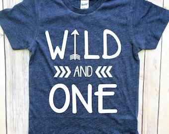Wild one birthday boy, one year old boy birthday outfit, wild and one birthday boy, first birthday shirt boy, boys first birthday shirt