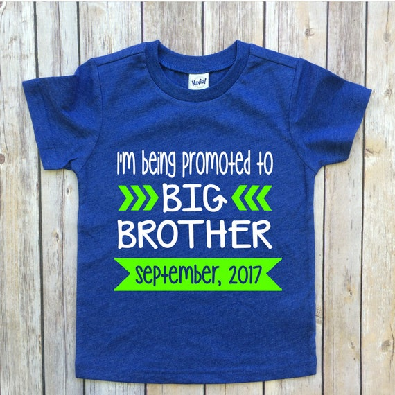promoted to big brother baby announcement shirt big ...