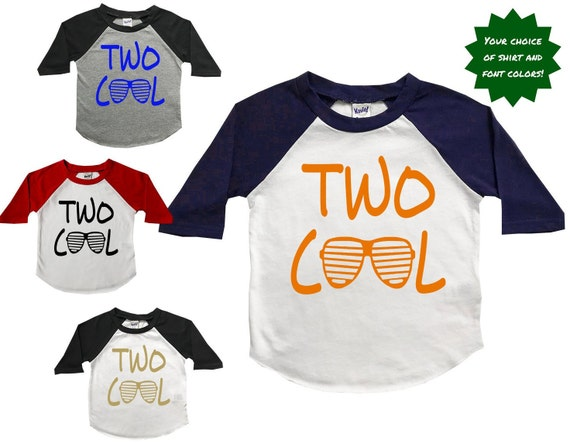 2nd Birthday Shirt Boy Boys Shirts Two Cool