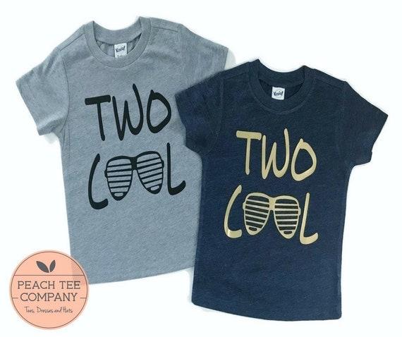 2 Year Old Birthday Boy Shirt Two Cool Shirt Boys Birthday Etsy