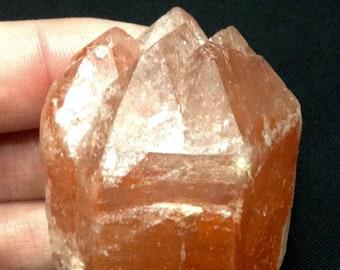 Scarlett Temple 96 grams Deep Colour Lemurian Seed Inclusion Quartz Crystal from Minas Gerais Brazil!