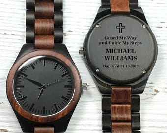 Engraved Wooden Watch, Personalized Wood Watch, Christmas Gift, Groomsmen Gift, Wooden Watch for Men, Men's Wood Watch, Wedding Gift for Man