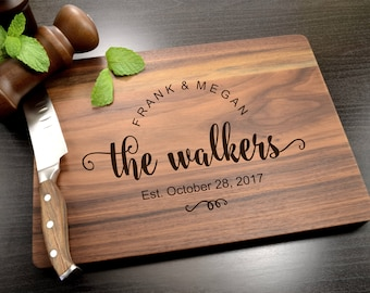 Personalized Cutting Board - Wedding Gifts, Anniversary or Housewarming Gift