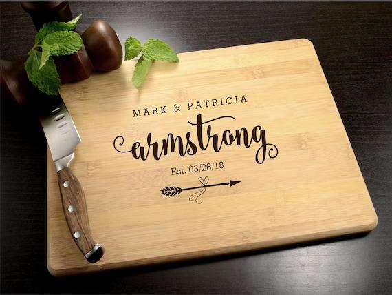 Personalized Cutting Board Wedding Gift Housewarming Gift Custom Cutting Board Anniversary 029 Engraved Cutting Board Engagement