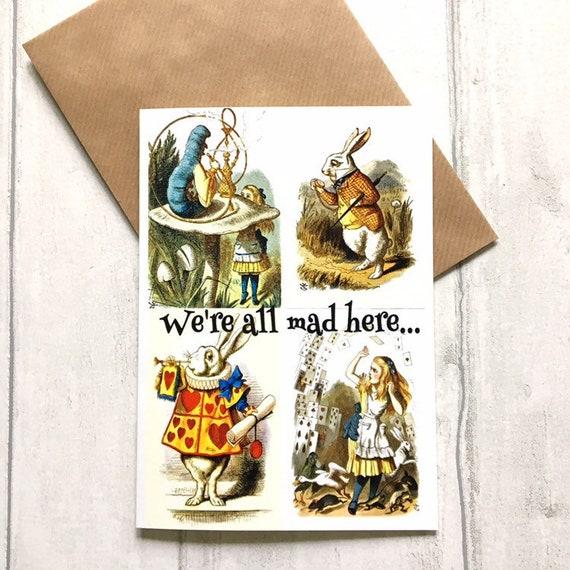 Alice in Wonderland Book Scarf Gift Readers Gift Mad Hatter
