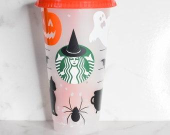 Halloween Cup | Fall Cup | Pumpkin Decals | Basic Witch  Cup | Ghost Tumbler | Witch Tumbler | Pumpkin Spider Bat Black Cat  | Hocus Pocus
