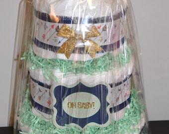 Arrow Theme Diaper Cake