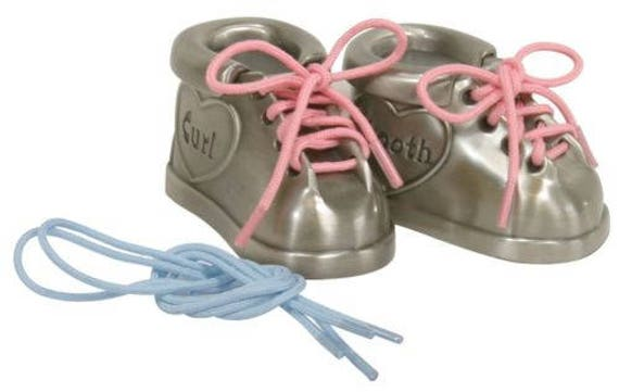 Personalized Engraved Pewter Baby Shoes