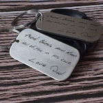 Actual handwriting keychain, signature keychain, handwritten keychain, personalized keychain, groomsmen gift, gift ideas, custom gifts