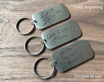 handwriting keychain