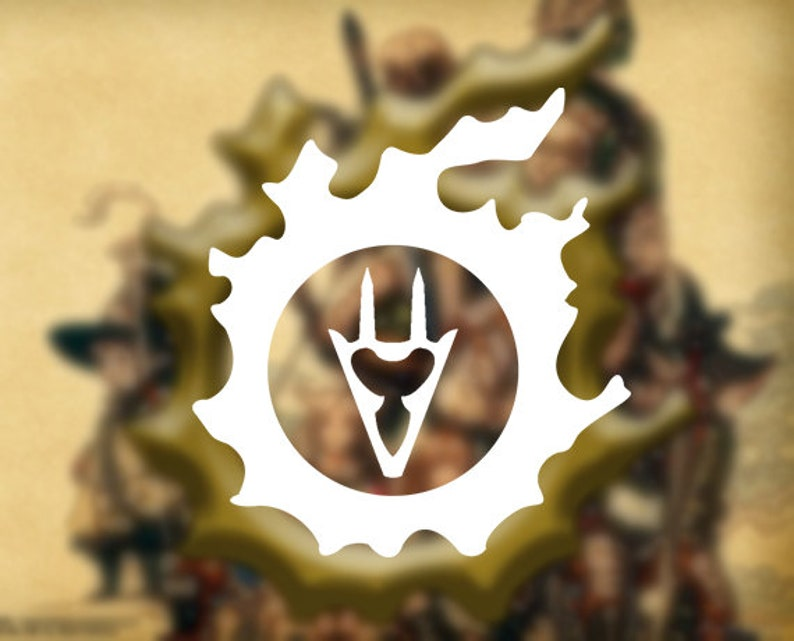 FFXIV - Dragoon in Main Scenario Quest Icon (DRG) Vinyl Decal | Car Decal |  Laptop Decal | Phone Decal