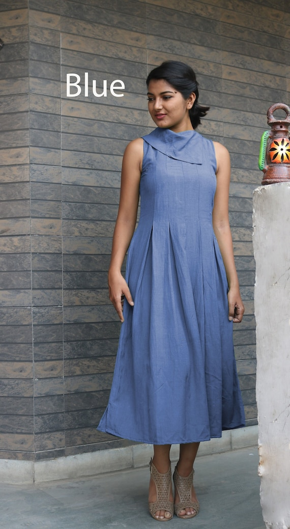 Maxi dress for women/Plus size dress/Linen pleated dress/made to order/  custom made/ plus size