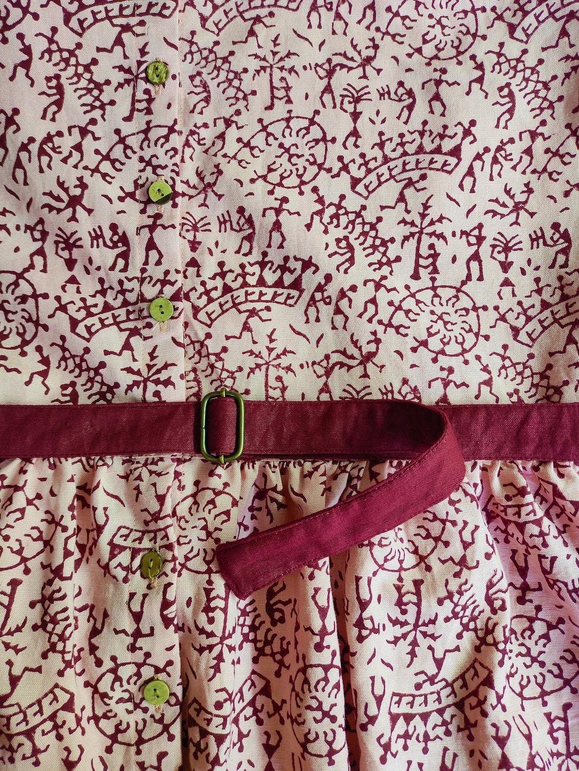 Maxi dress for women Linen maxi dress Block print dress