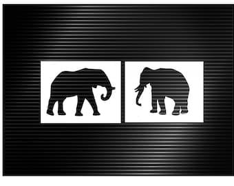 Elephant Stencil - set of 2