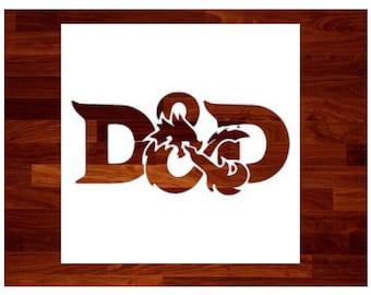 Custom Stencils - Dungeons and Dragons Custom Stencil