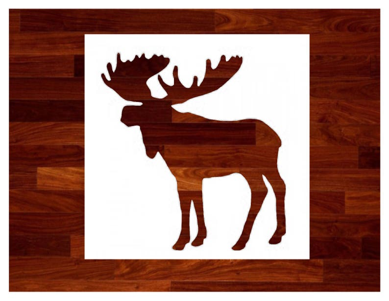 Custom Stencils  Moose Stencil image 0