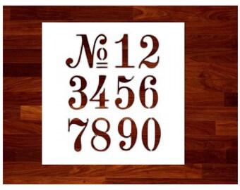 Letter stencils etsy numbers stencil spiritdancerdesigns Gallery
