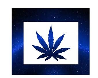 Cannabis Stencil