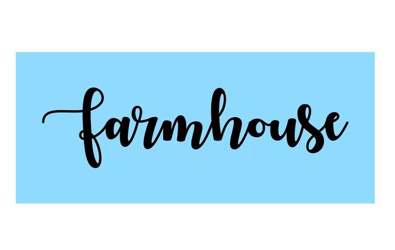 FARMHOUSE Custom Stencil - One Time Use Adhesive Stencil