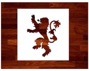 Lannister Stencil - Game of Thrones Lannister Stencil