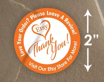"2"" Love Your Order - Review Mail Stickers - 20 Stickers Per Sheet - Glossy"