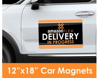 "Amazon Flex Delivery 12""x18"" Large Car Magnet"
