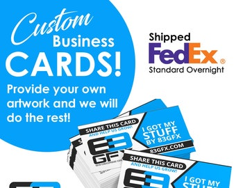 Create Your Own - Business Cards - Matte Or Glossy - Use your own artwork!