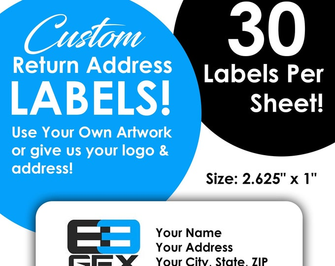 Create Your Own - Return Address Stickers / Labels - Use your own artwork or logo!