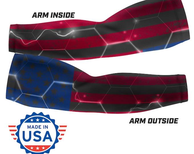 Electric USA Flag - Custom Arm Sleeve (Multiple sizes available)