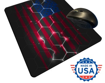 Electric USA Flag -  Sublimated Mouse Pad