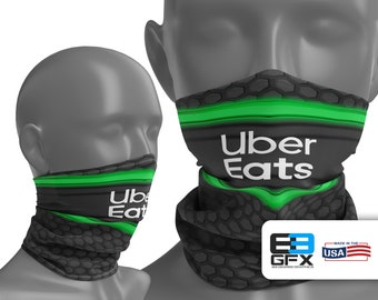 Uber Eats Delivery Driver - Neck Gaiter - Face Cover - Multiple Sizes!