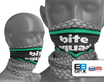 Bite Squad Delivery Driver - Neck Gaiter - Face Cover - Multiple Sizes!