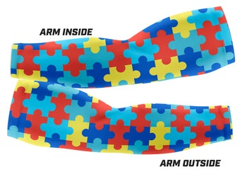Autism Awareness PUZZLE  - Custom Arm Sleeves (Multiple sizes available)