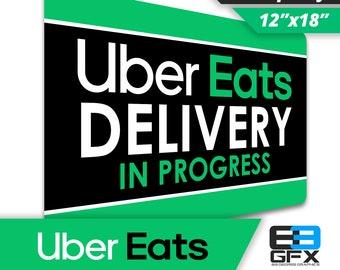 """Uber Eats Delivery 12""""x18"""" Large Car Magnet"""